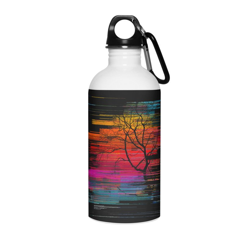 Sunset Fusion (lone tree version) Accessories Water Bottle by bulo