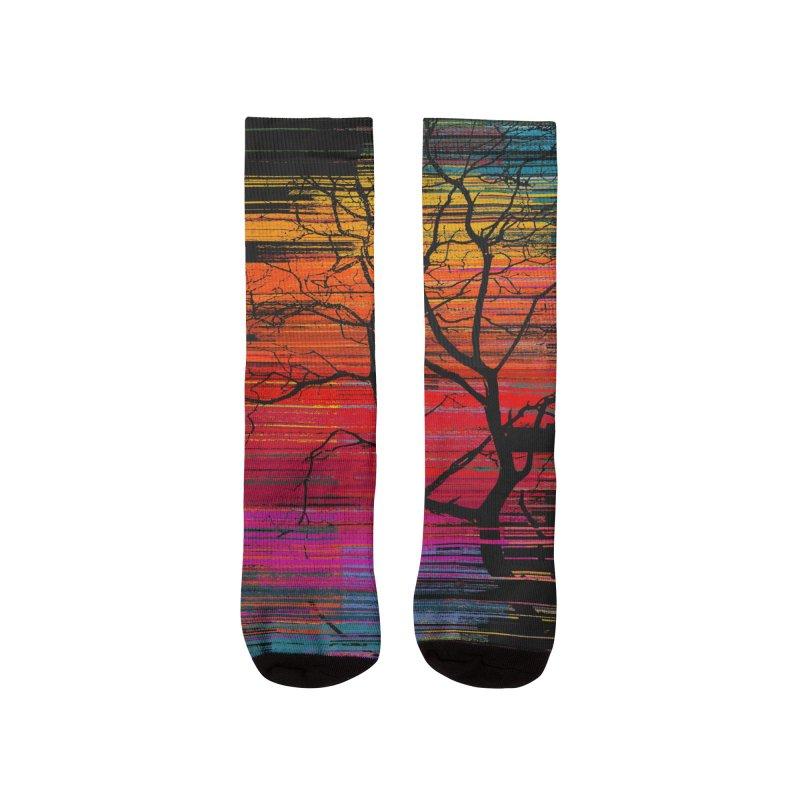 Sunset Fusion (lone tree version) Women's Socks by bulo