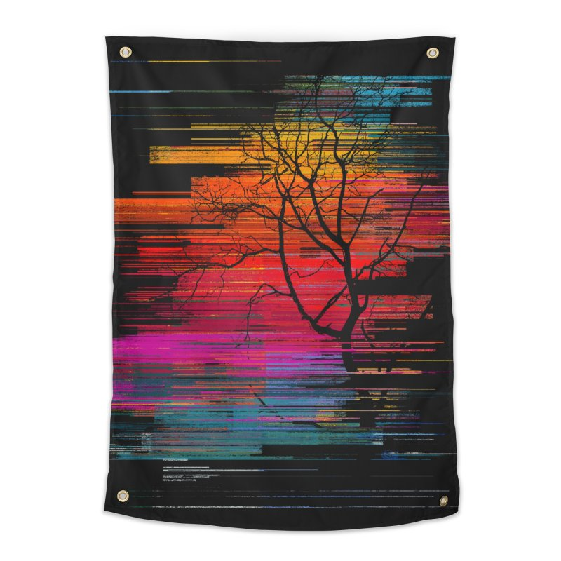 Sunset Fusion (lone tree version) Home Tapestry by bulo
