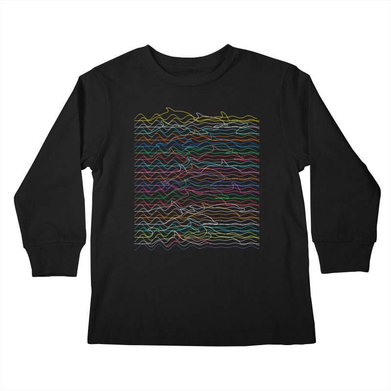 Dolphins Kids Longsleeve T-Shirt by bulo