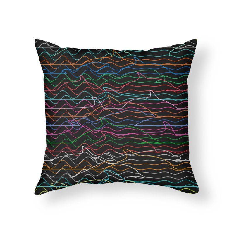 Dolphins Home Throw Pillow by bulo