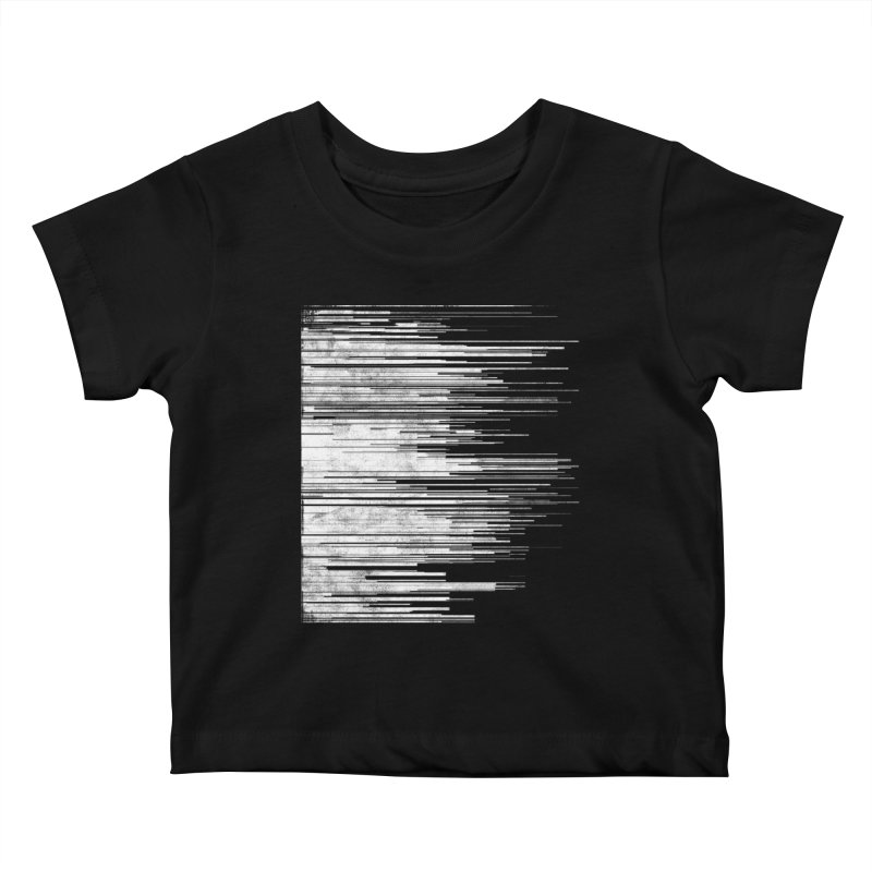 White Noise Kids Baby T-Shirt by bulo