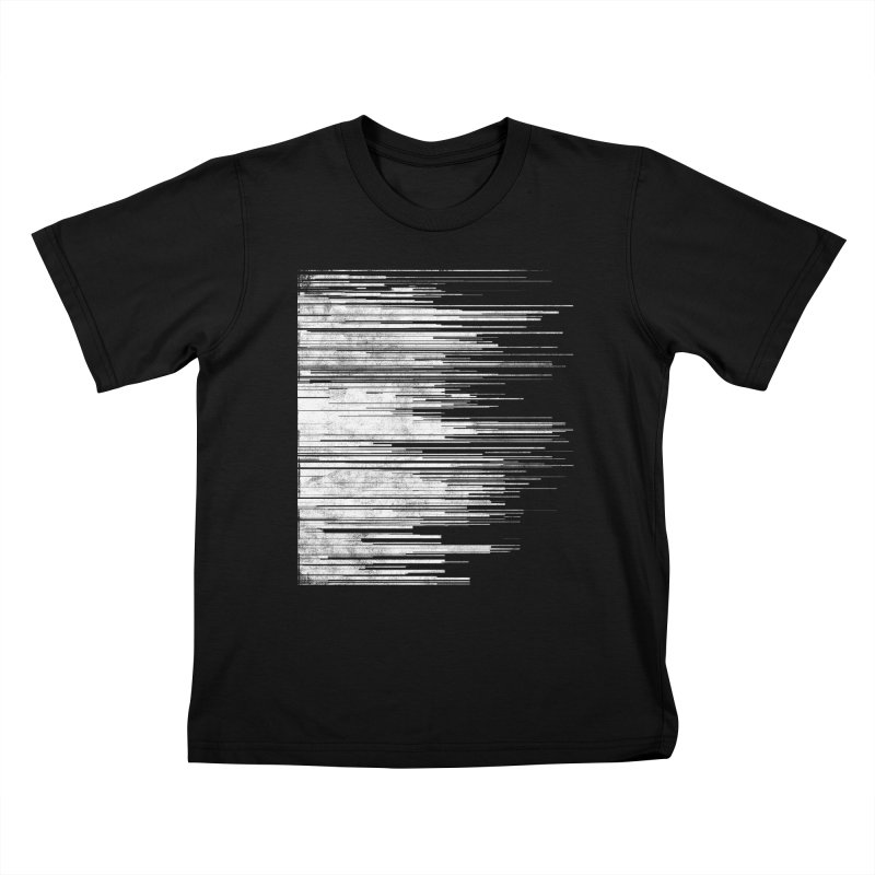 White Noise Kids T-Shirt by bulo