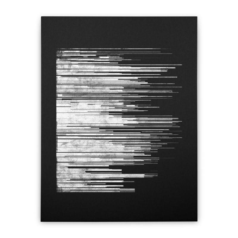 White Noise Home Stretched Canvas by bulo