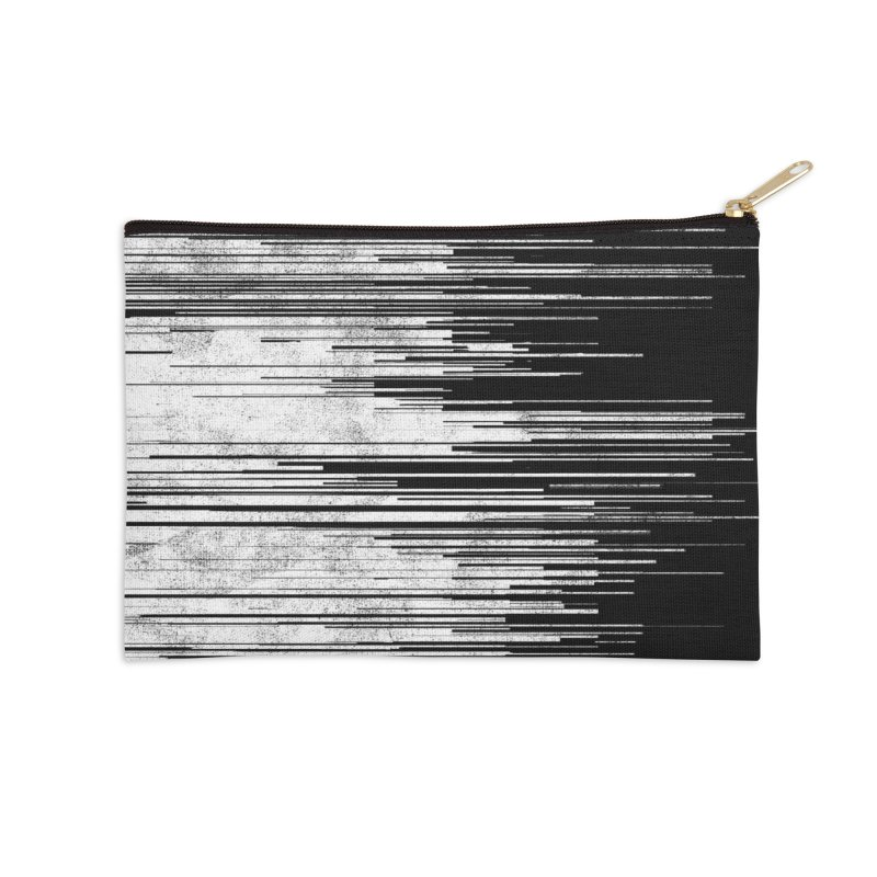 White Noise Accessories Zip Pouch by bulo