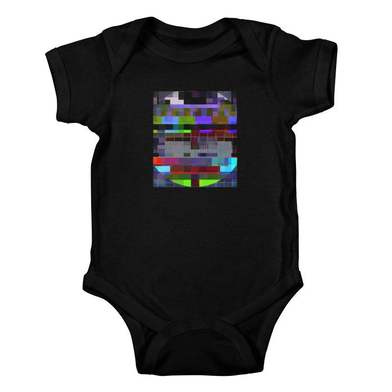 Test Card Kids Baby Bodysuit by bulo