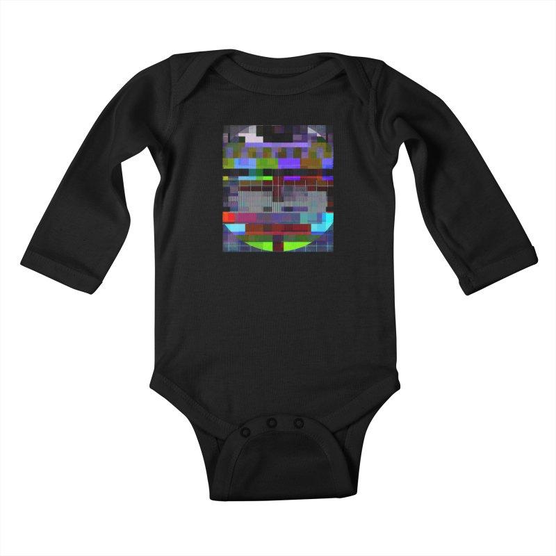 Test Card Kids Baby Longsleeve Bodysuit by bulo