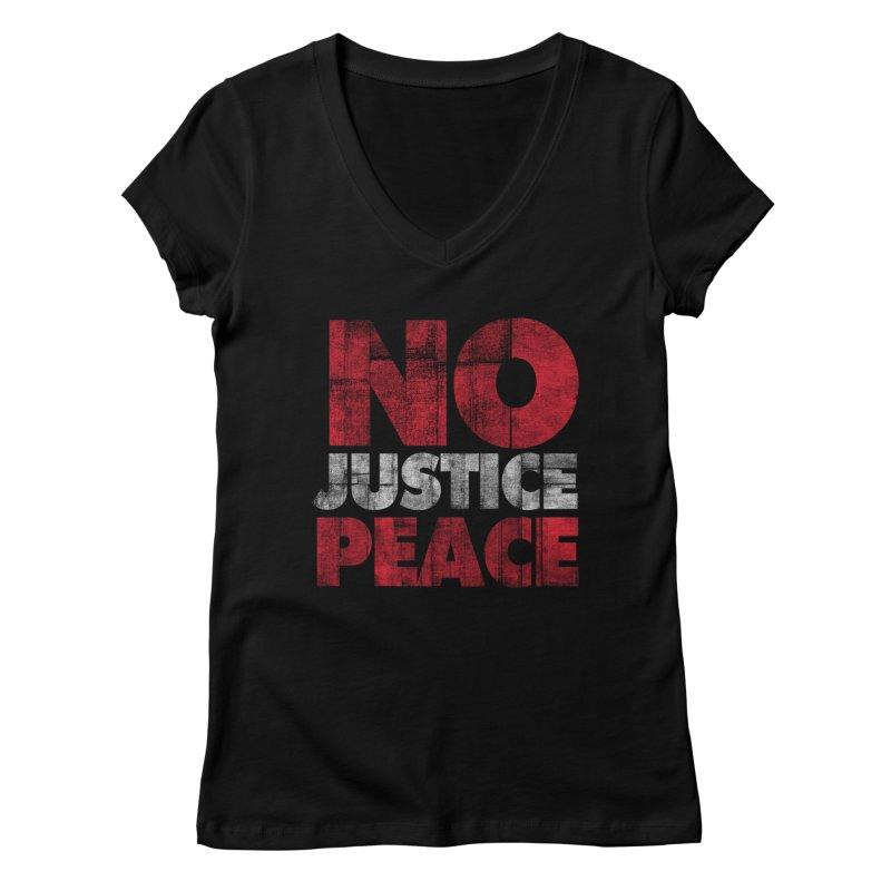 No Justice No Peace Women's V-Neck by bulo
