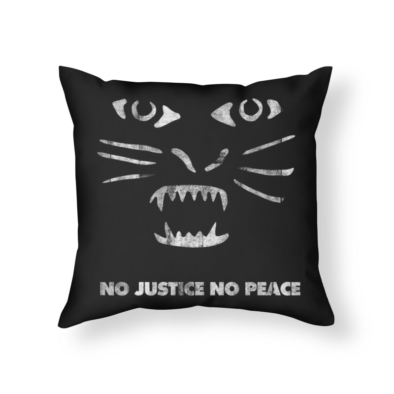 No Justice No Peace Home Throw Pillow by bulo