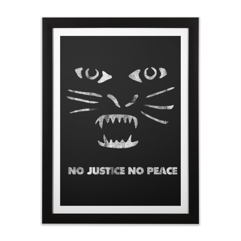 No Justice No Peace Home Framed Fine Art Print by bulo