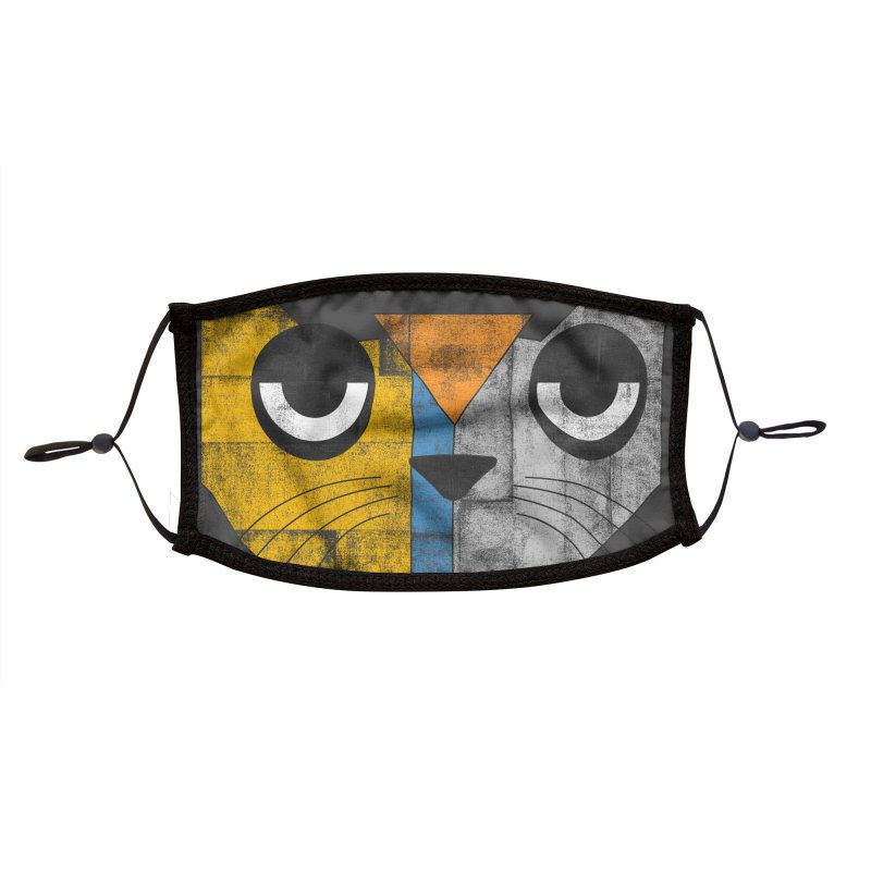 Cubicat Tired Accessories Face Mask by bulo