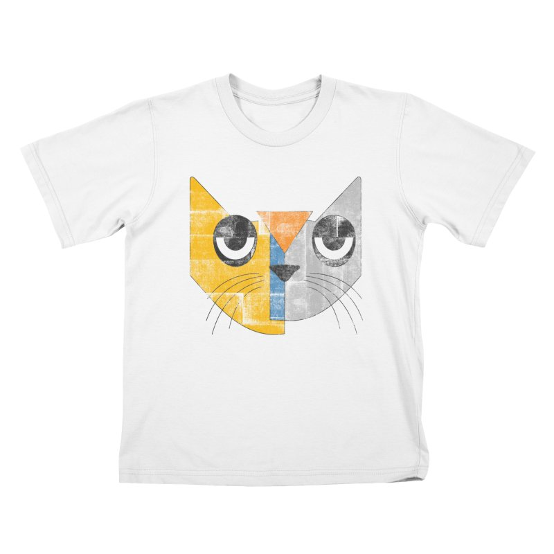 Cubicat Tired Kids T-Shirt by bulo