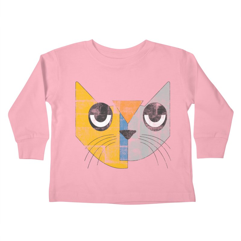 Cubicat Tired Kids Toddler Longsleeve T-Shirt by bulo