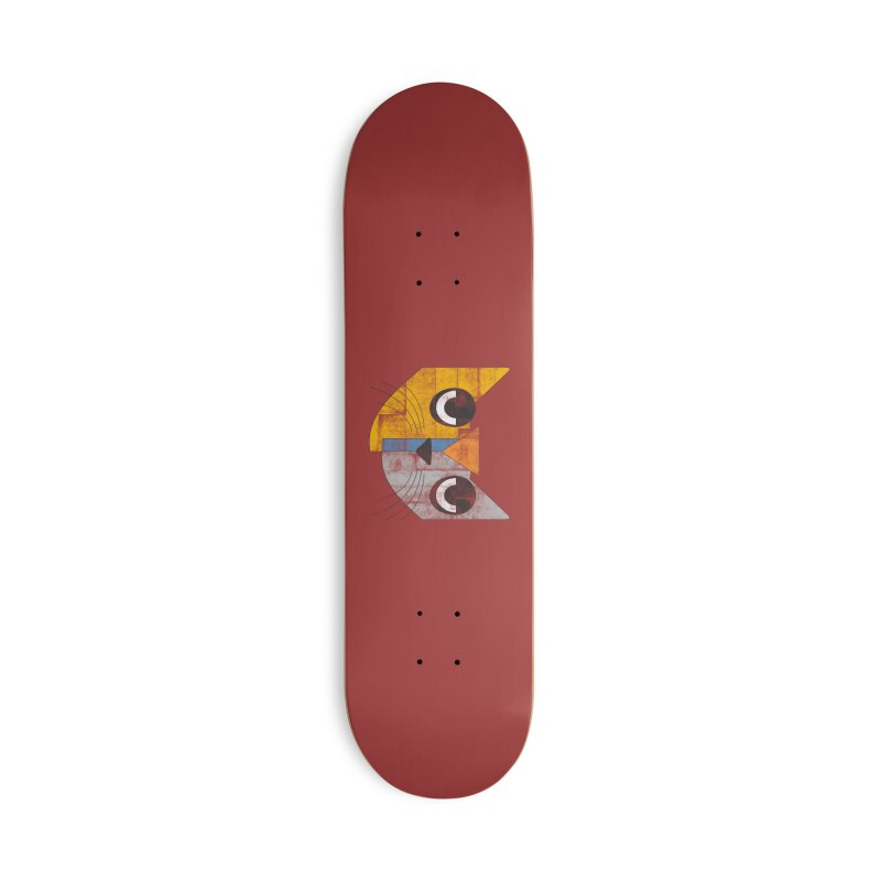 Cubicat Tired Accessories Skateboard by bulo