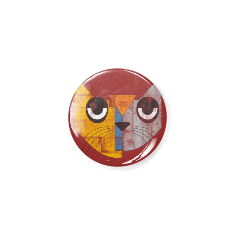 Cubicat Tired Accessories Button by bulo