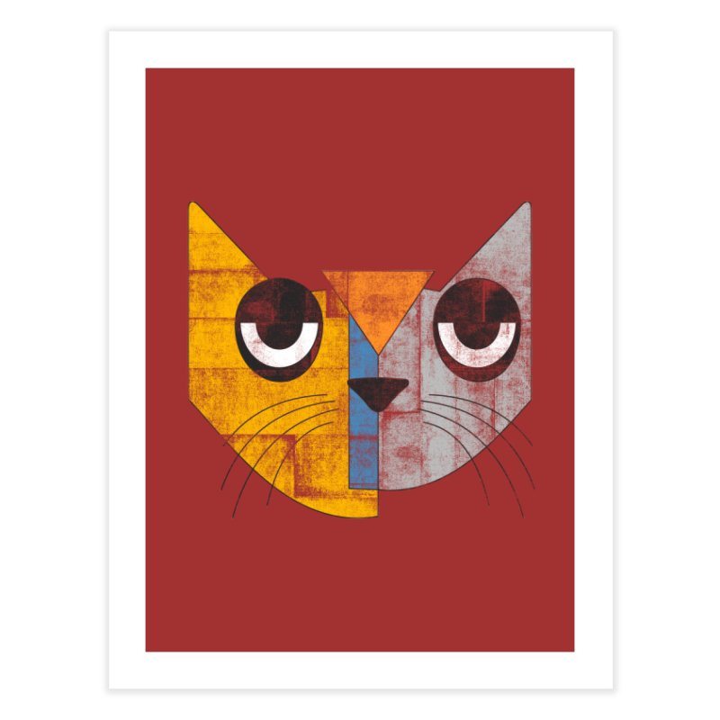 Cubicat Tired Home Fine Art Print by bulo
