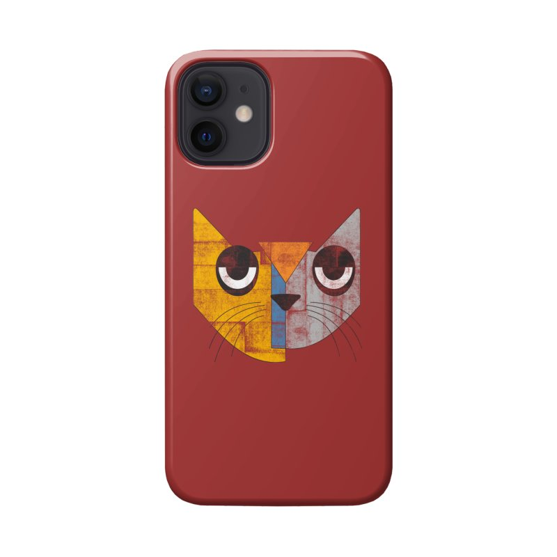 Cubicat Tired Accessories Phone Case by bulo