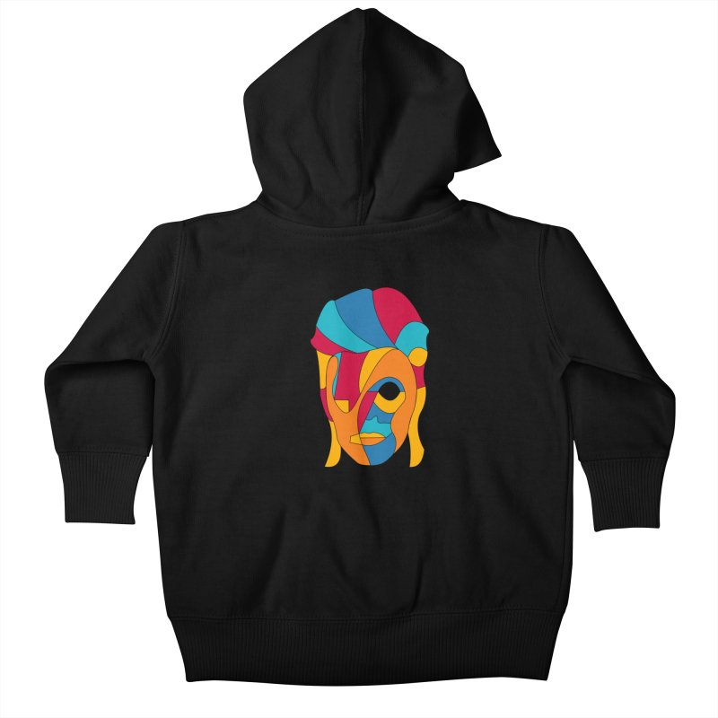 Bowie Face Kids Baby Zip-Up Hoody by bulo