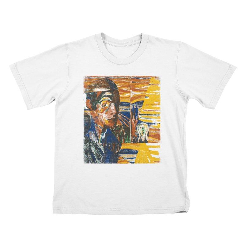 Munch (rework) Kids T-Shirt by bulo