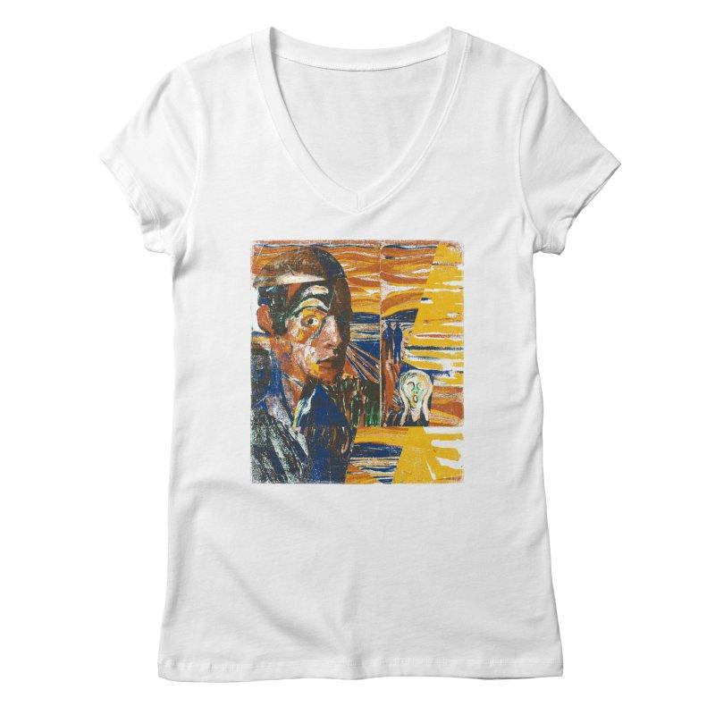 Munch (rework) Women's V-Neck by bulo