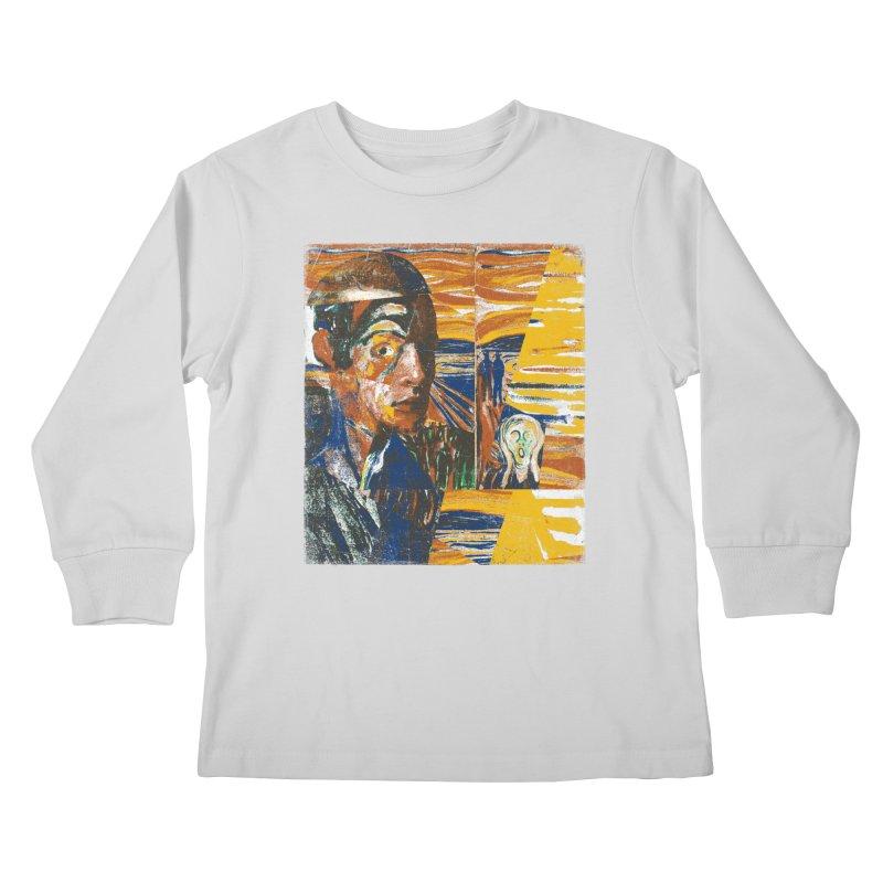 Munch (rework) Kids Longsleeve T-Shirt by bulo