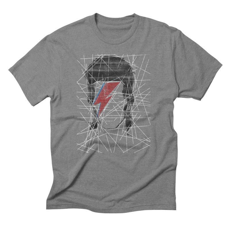 Starman in Men's Triblend T-Shirt Grey Triblend by bulo