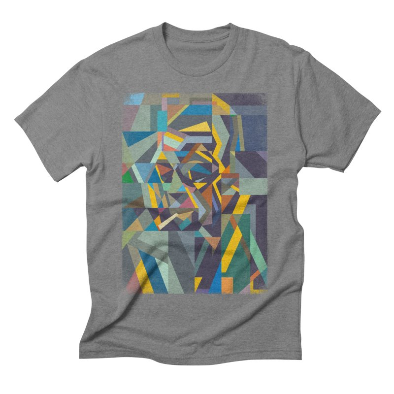 Camus face in Men's Triblend T-shirt Grey Triblend by bulo