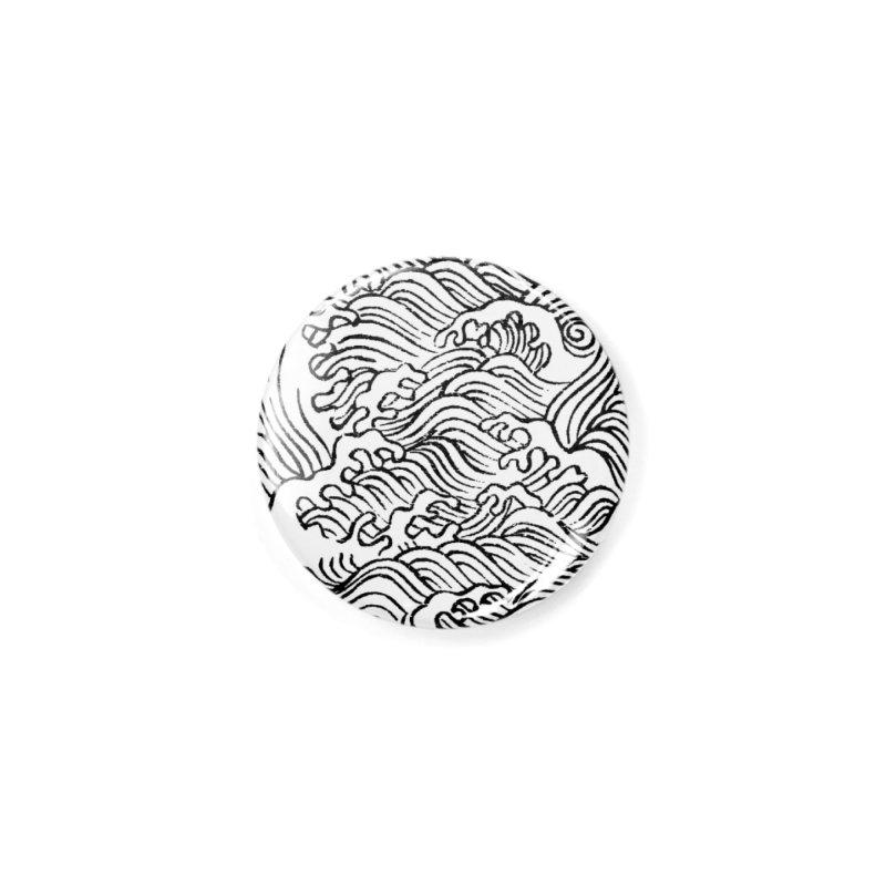 Ha Bun Shu Waves Refined Accessories Button by bulo