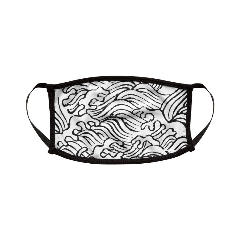 Ha Bun Shu Waves Refined Accessories Face Mask by bulo