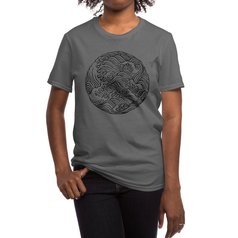Ha Bun Shu Waves Refined Women's T-Shirt by bulo
