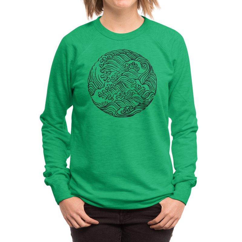 Ha Bun Shu Waves Refined Women's Sweatshirt by bulo