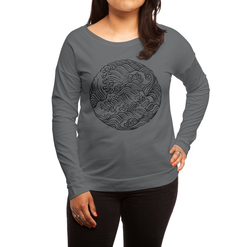 Ha Bun Shu Waves Refined Women's Longsleeve T-Shirt by bulo