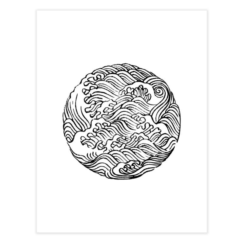 Ha Bun Shu Waves Refined Home Fine Art Print by bulo