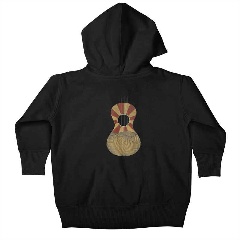 Guitar Kids Baby Zip-Up Hoody by bulo