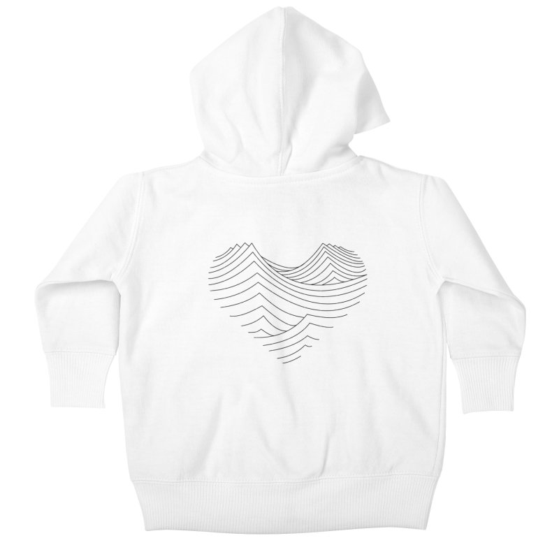 Love Waves Kids Baby Zip-Up Hoody by bulo