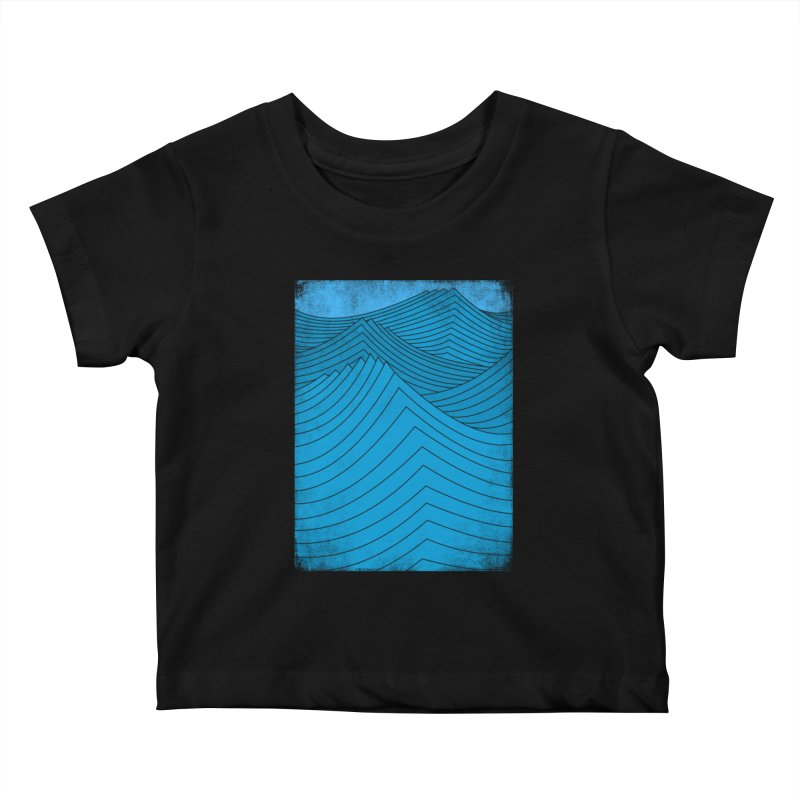 Waves Kids Baby T-Shirt by bulo