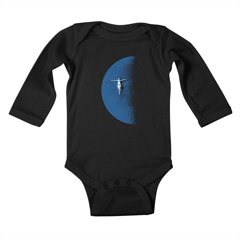 Blue Fantasy Rework Kids Baby Longsleeve Bodysuit by bulo