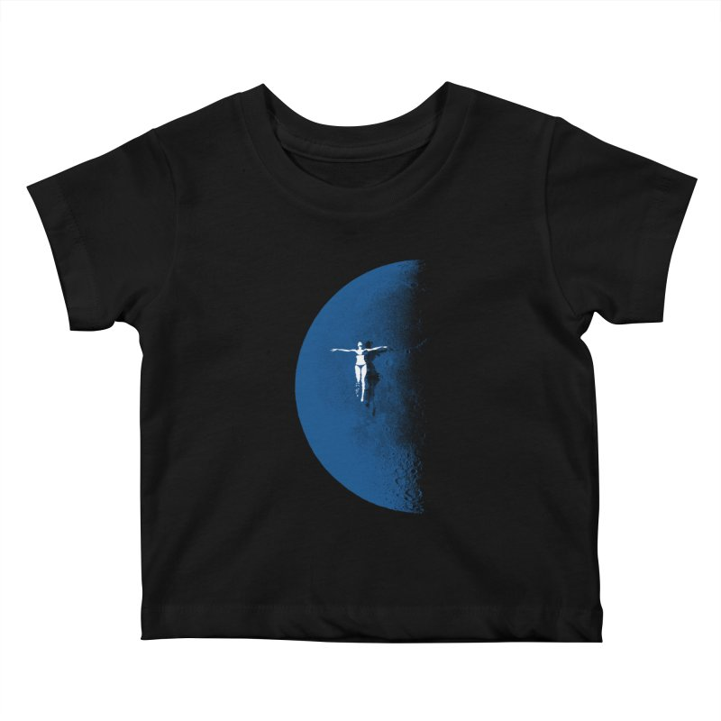 Blue Fantasy Rework Kids Baby T-Shirt by bulo