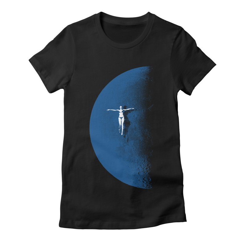 Blue Fantasy Rework Women's Fitted T-Shirt by bulo