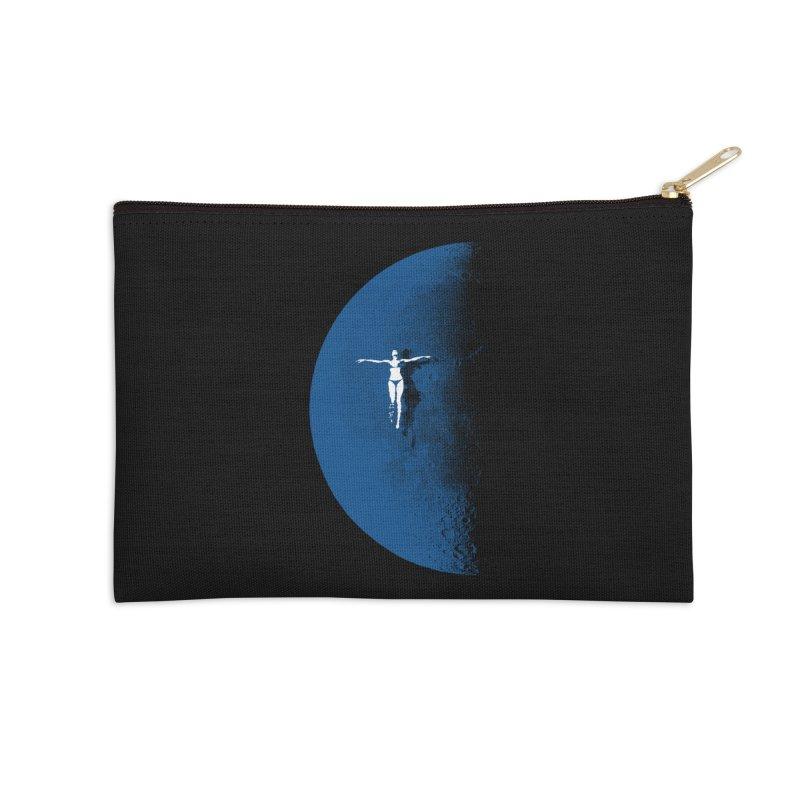 Blue Fantasy Rework Accessories Zip Pouch by bulo