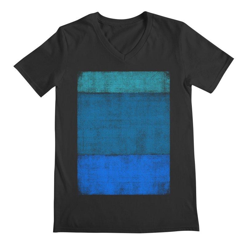 Blue Vibes Men's V-Neck by bulo