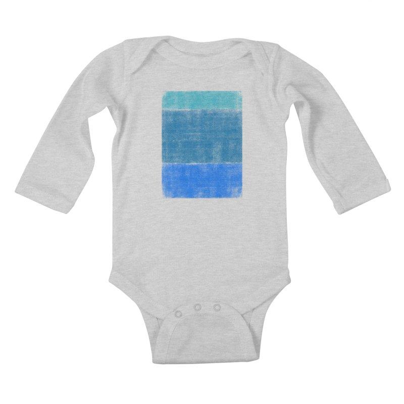 Blue Vibes Kids Baby Longsleeve Bodysuit by bulo
