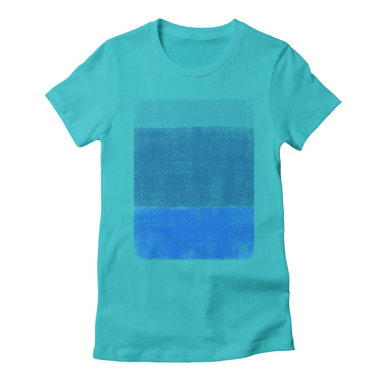 Blue Vibes Women's Fitted T-Shirt by bulo