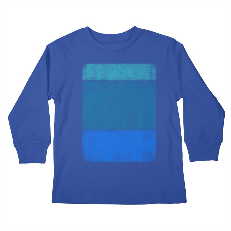 Blue Vibes Kids Longsleeve T-Shirt by bulo