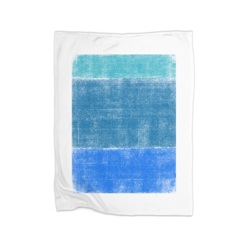 Blue Vibes Home Fleece Blanket by bulo