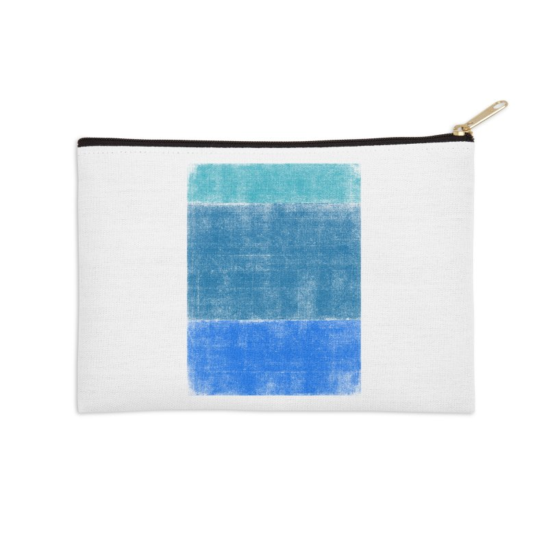 Blue Vibes Accessories Zip Pouch by bulo