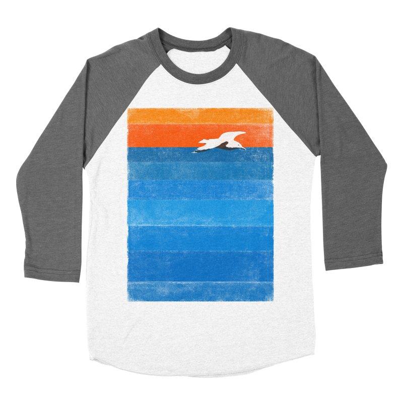Beach Men's Baseball Triblend T-Shirt by bulo