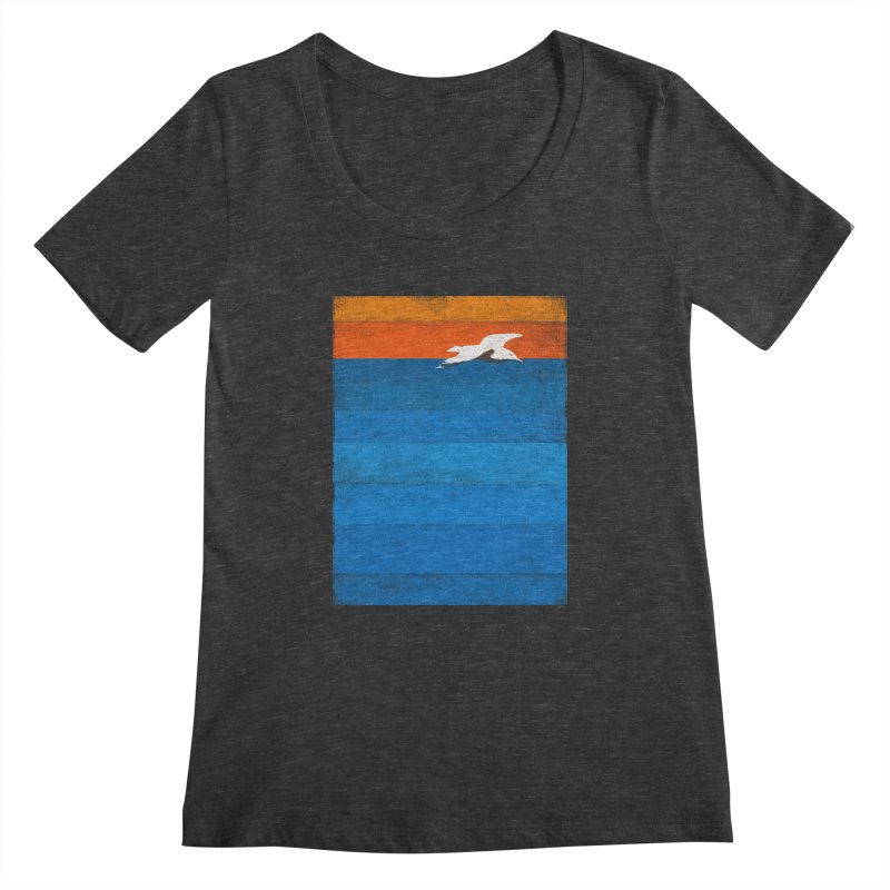 Beach Women's Scoopneck by bulo
