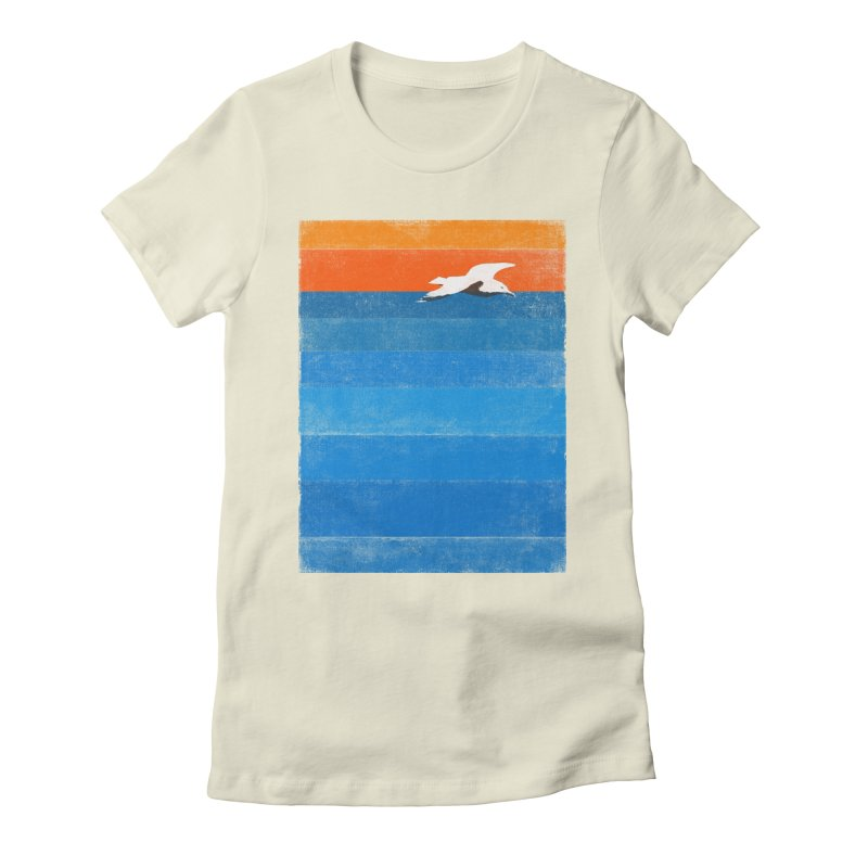 Beach Women's Fitted T-Shirt by bulo