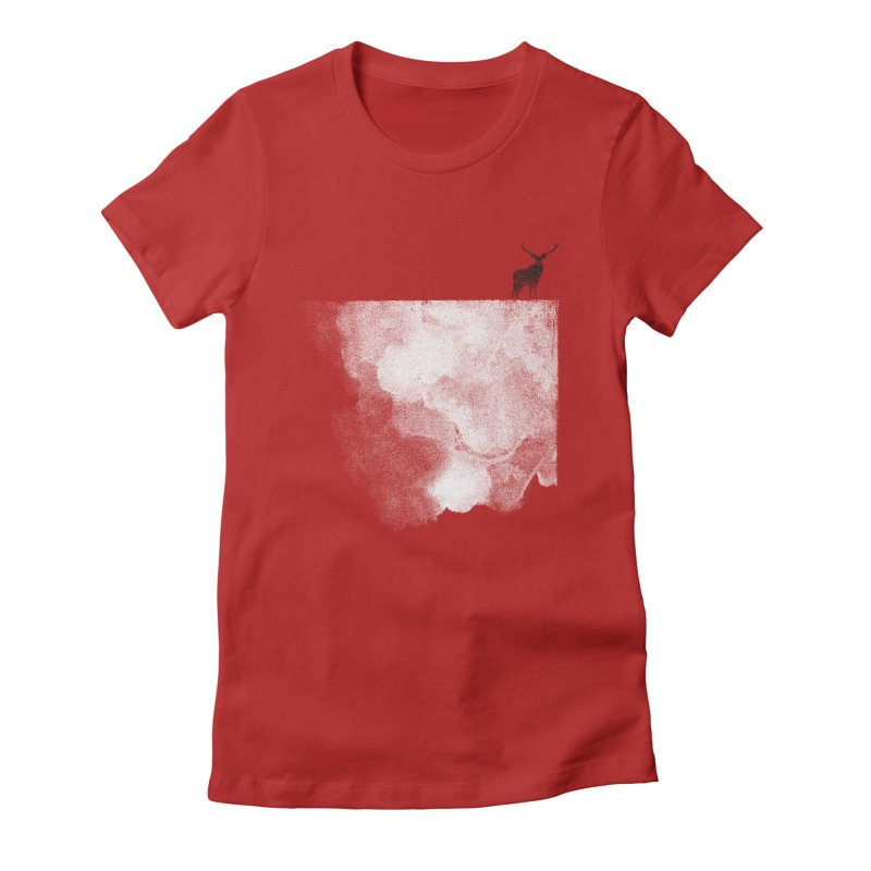 Oh Deer Women's Fitted T-Shirt by bulo